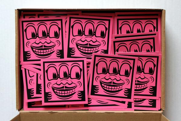 wokasoma florian schröder sticker streetart pop art kunst galerie kunsthalle