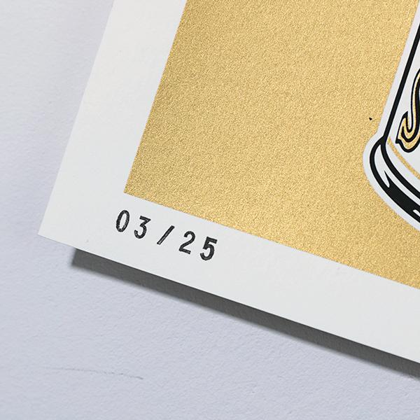 wokasoma florian schröder print siebdruck midas edition gold opus leopard pop art kunst galerie kunsthalle